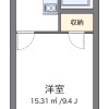 1K Apartment to Rent in Yachiyo-shi Floorplan