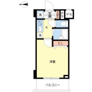 1K Mansion in Kikukawa - Sumida-ku Floorplan