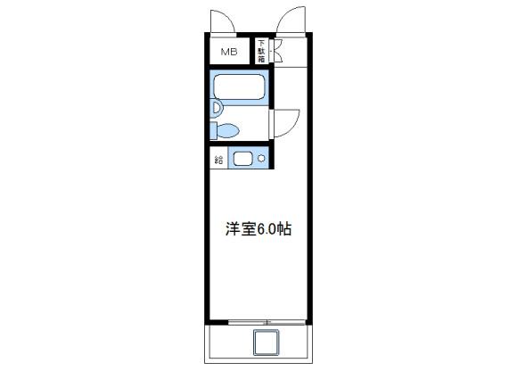 1R Apartment to Rent in Sagamihara-shi Midori-ku Floorplan