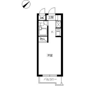 1R Mansion in Minamikase - Kawasaki-shi Saiwai-ku Floorplan
