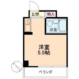 渋谷区 神山町 1R マンション 間取り