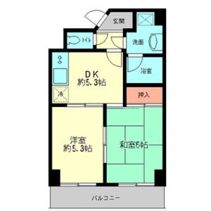 2DK Mansion in Yahiro - Sumida-ku Floorplan