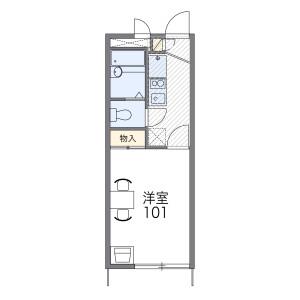 1K Apartment in Nakawakura - Matsudo-shi Floorplan