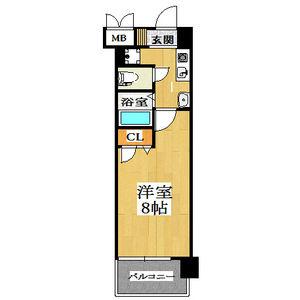 1K Mansion in Nakatsu - Osaka-shi Kita-ku Floorplan
