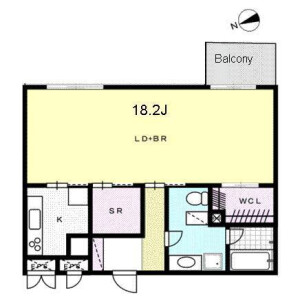 1K Apartment in Shirokanedai - Minato-ku Floorplan