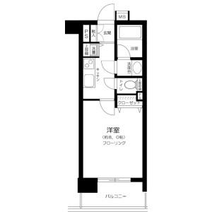 1K Mansion in Sakuragaokacho - Shibuya-ku Floorplan