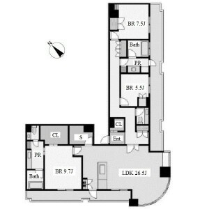 3SLDK Apartment in Chikusa - Nagoya-shi Chikusa-ku Floorplan