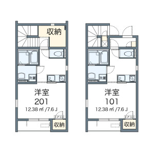 1R Apartment in Katamachi - Shinjuku-ku Floorplan