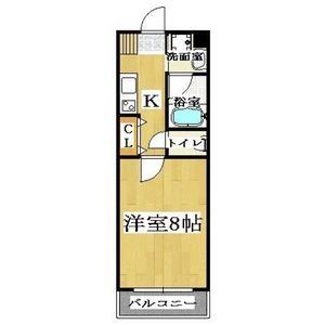 1K Mansion in Saiwaicho - Osaka-shi Naniwa-ku Floorplan