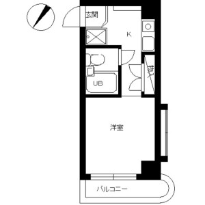 1R Apartment in Urashimacho - Yokohama-shi Kanagawa-ku Floorplan