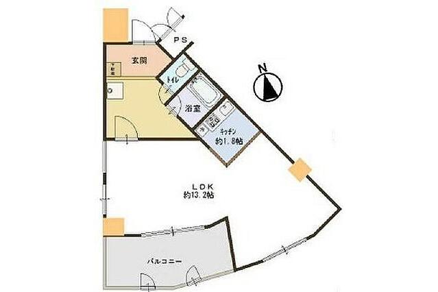 1LDK Apartment to Buy in Osaka-shi Fukushima-ku Floorplan