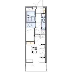 1K Mansion in Okutecho - Nagoya-shi Chikusa-ku Floorplan