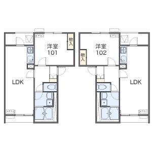 1LDK Mansion in Sakaecho - Hamura-shi Floorplan