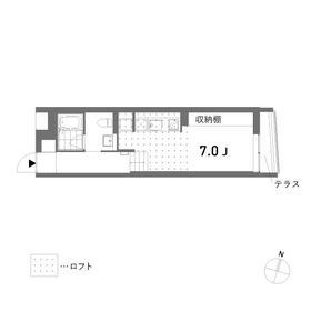 1R Apartment in Nishikigaoka - Yokohama-shi Kohoku-ku Floorplan