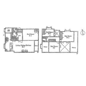 4LDK House in Kamisugedacho - Yokohama-shi Hodogaya-ku Floorplan