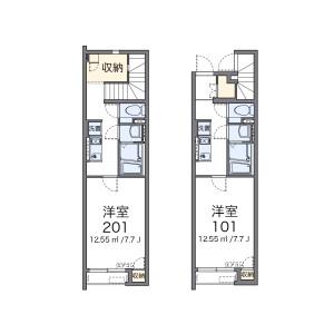 1K Apartment in Shimane - Adachi-ku Floorplan
