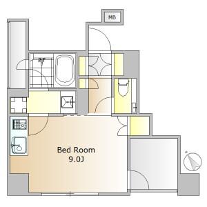 1R Mansion in Higashiyama - Meguro-ku Floorplan