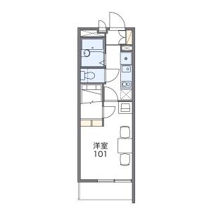 1K Mansion in Morinomiyachuo - Osaka-shi Chuo-ku Floorplan