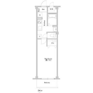 1K Mansion in Minamiogikubo - Suginami-ku Floorplan