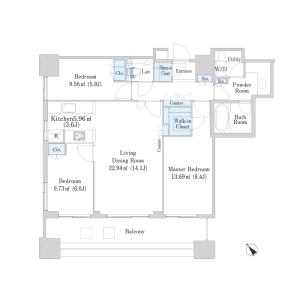 1LDK Mansion in Sakuragaokacho - Shibuya-ku Floorplan