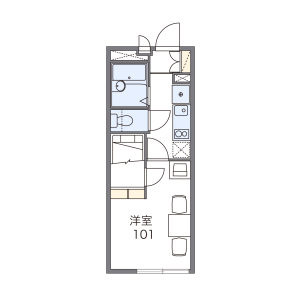1K Mansion in Kikuna - Yokohama-shi Kohoku-ku Floorplan