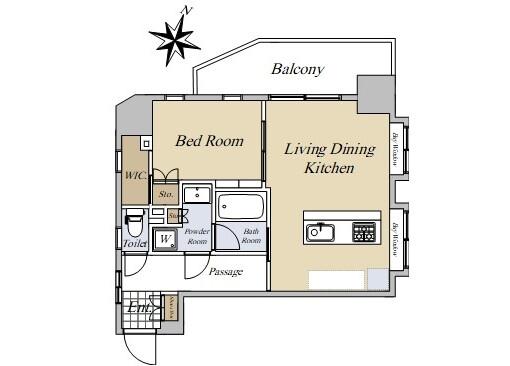 在文京區購買1LDK 公寓大廈的房產 房間格局