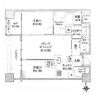 2SLDK Apartment to Rent in Minato-ku Floorplan