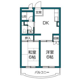 2DK Mansion in Minamikarasuyama - Setagaya-ku Floorplan