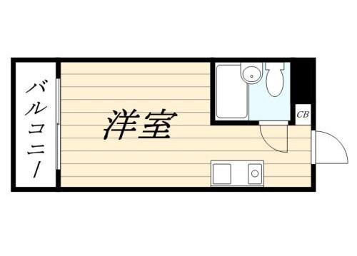 1R Apartment to Rent in Bunkyo-ku Floorplan