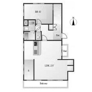 名古屋市名東區貴船-1SLDK公寓 房間格局