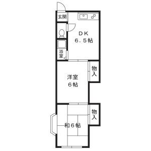 2DK Apartment in Nogawa - Kawasaki-shi Miyamae-ku Floorplan