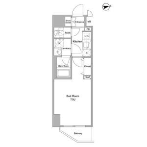 1K Mansion in Kitaueno - Taito-ku Floorplan