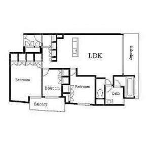 3LDK Mansion in Otanacho - Nagoya-shi Chikusa-ku Floorplan