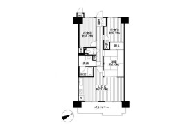 3LDK Apartment in Nishikagaya - Osaka-shi Suminoe-ku