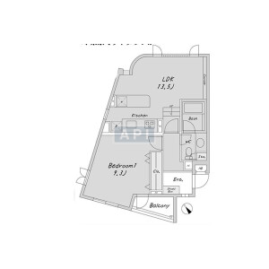 1LDK {building type} in Akasaka - Minato-ku Floorplan
