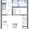 在富士见野市内租赁1K 公寓 的 楼层布局