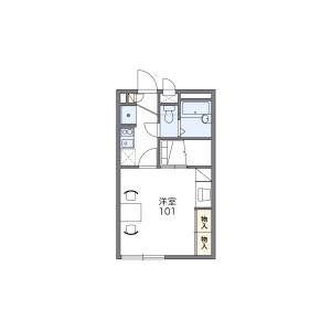 富士见野市福岡中央-1K公寓 楼层布局