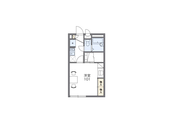 1K Apartment to Rent in Fujimino-shi Floorplan