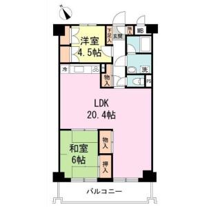 品川区東五反田-2LDK公寓大厦 楼层布局