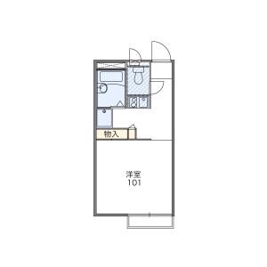 1K Mansion in Yanaga - Fukuoka-shi Minami-ku Floorplan
