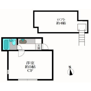 1R Apartment in Shimochiai - Shinjuku-ku Floorplan