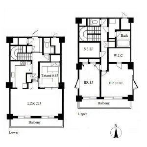 3LDK Apartment in Izumi - Nagoya-shi Higashi-ku Floorplan