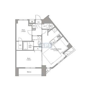 2LDK {building type} in Kudamminami - Chiyoda-ku Floorplan