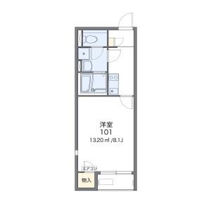 1K Apartment in Umebayashi - Fukuoka-shi Jonan-ku Floorplan