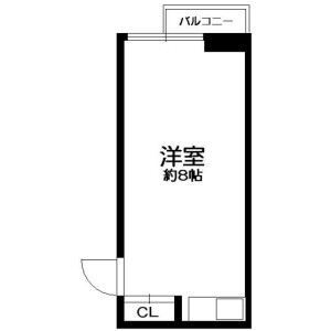 1R Mansion in Asakusabashi - Taito-ku Floorplan