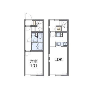 2DK Apartment in Ishiyamacho - Otaru-shi Floorplan