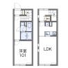 2DK Apartment to Rent in Otaru-shi Floorplan