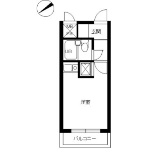 1K Mansion in Ooka - Yokohama-shi Minami-ku Floorplan