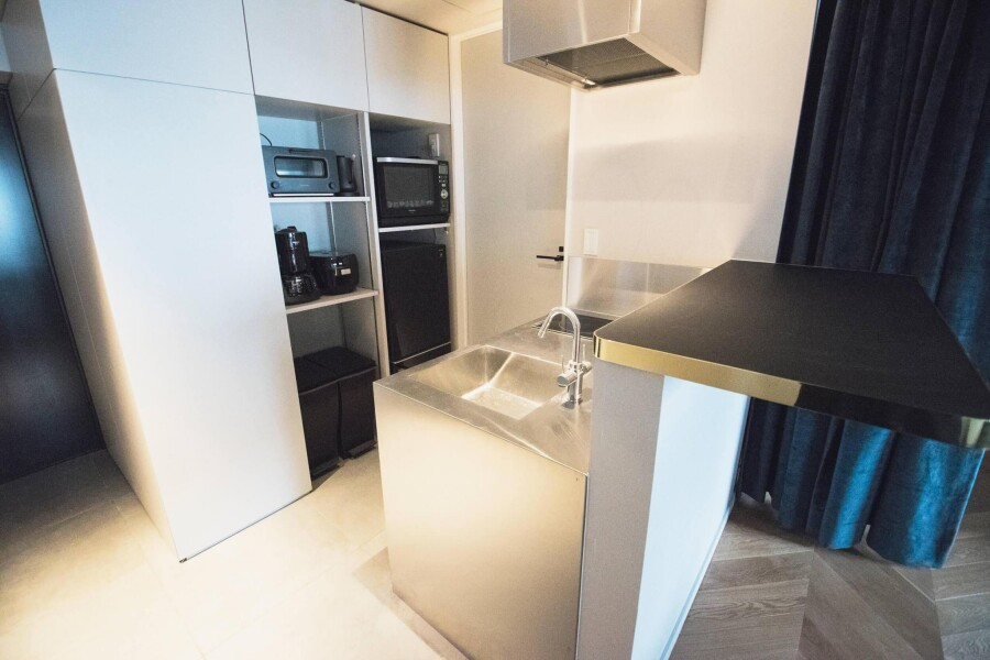 1DK Serviced Apartment to Rent in Shibuya-ku Kitchen