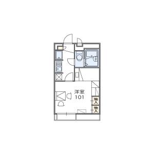 1K Apartment in Hanazonominami - Osaka-shi Nishinari-ku Floorplan